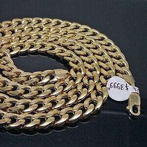 environ 22.86 cm Brand New 10 k gold Miami Cubain Chaîne 26 Pouces 9 in homard Lock Bracelet 8 mm