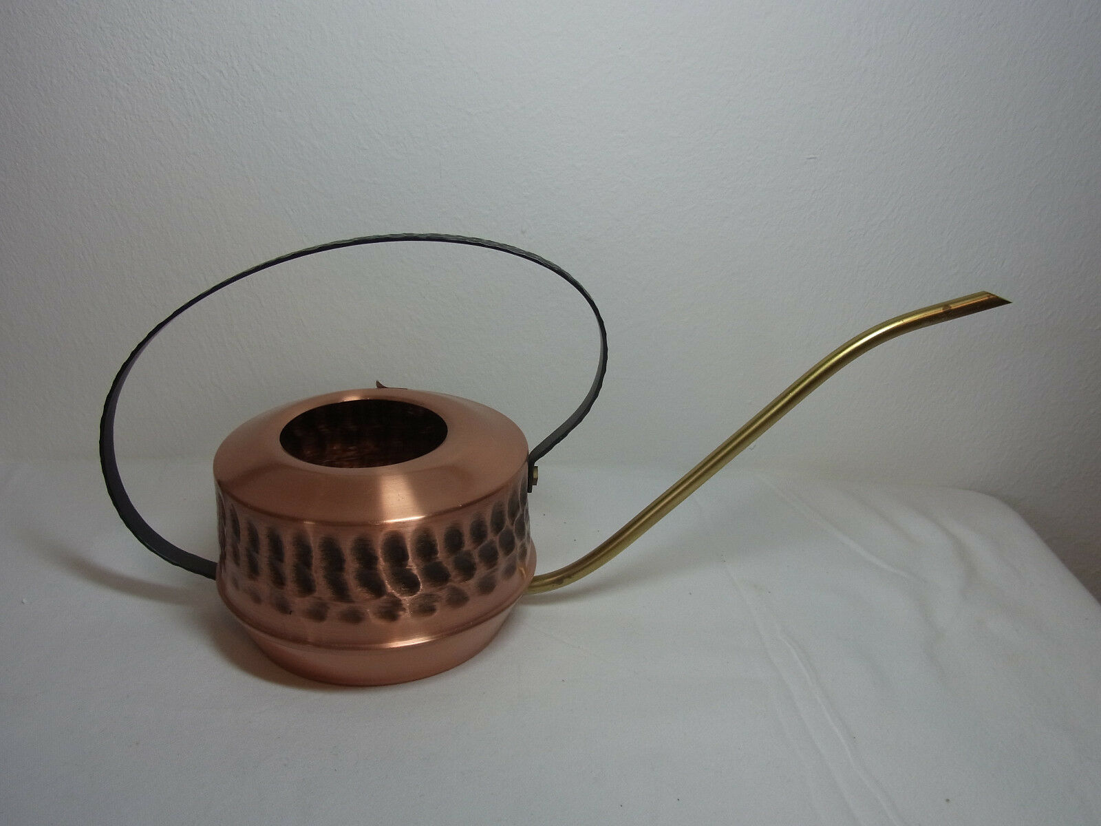 Mid Century 70´s Copper and Iron Watering Can Cactus Bonsai