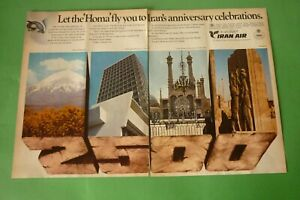 1977-Original-Advertising-039-Air-Iran-Airlines-Anniversary-Celebrations-2-Pages