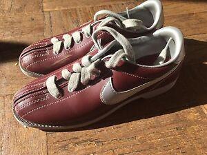 Vintage Nike Bowling Shoes Burgandy