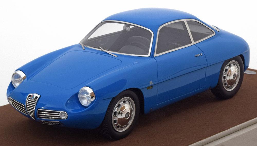 Tecnomodel 1960 Alfa Romeo Giulietta Dimensione versión de calle blu Escala 1 18 edición limitada de 50