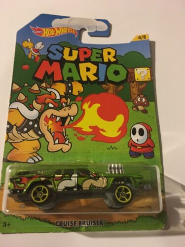 Bowser Hot Wheels Cruise Bruiser Super Mario Mattel 2018 Card Not Mint