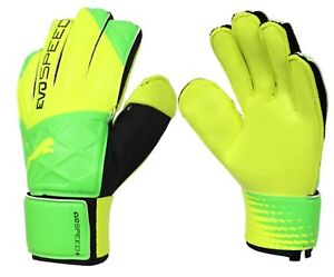 PUMA Men GK evoSPEED 5.5 Goalkeeper Gloves Green Football Soccer ... 926dbd583a58