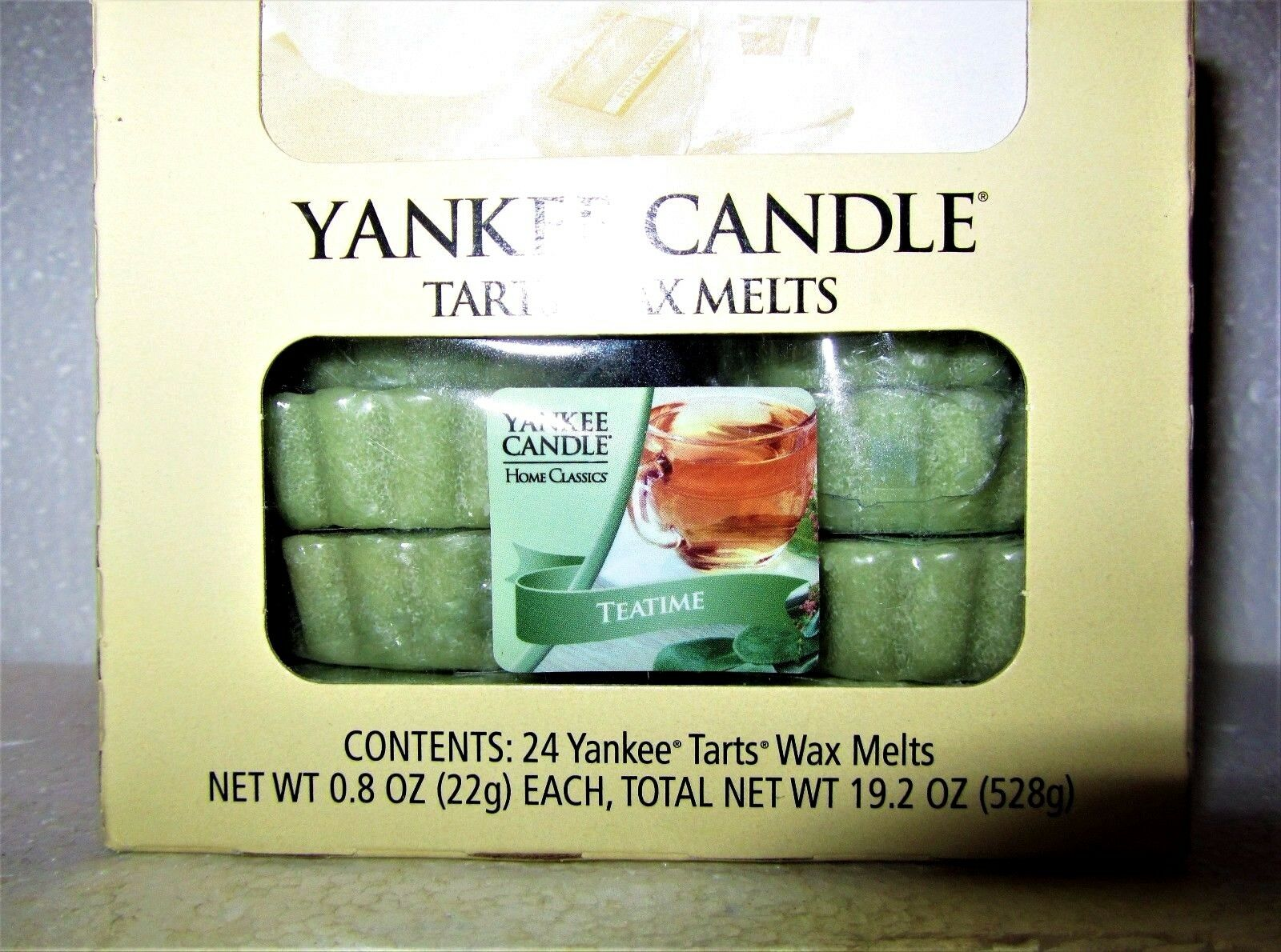 Box Lot of 24 Yankee Candle Home Classics  TEATIME  Tea Time  Tarts Wax Melts