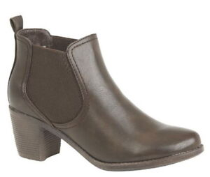 Ladies Ankle Boot, BROWN size 8 UK