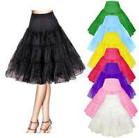 """Vintage Petticoat 26"""" Retro Underskirt 50s Swing Fancy Net Skirt Rockabilly UK"""