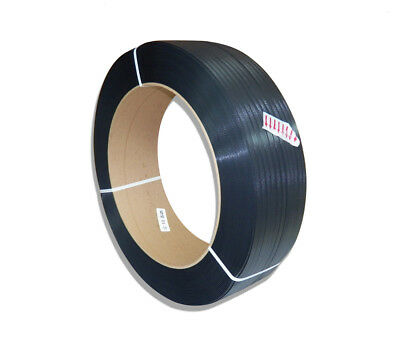 CWC Hand Polypropylene Strapping 3//4 x .031 x 4500 Black 8 x 8 Core