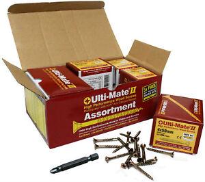 Ulti-Mate-11-woodscrew-ad-alte-prestazioni-4mm-x-30mm-con-Bit-confezione-di-2400