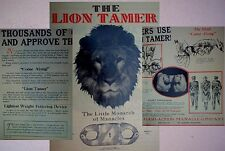 antique LION TAMER police thumb cuffs handcuffs leg irons advertisement brochure