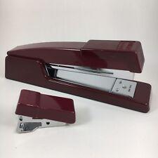 Vintage Stanley Bostitch Desk Stapler B440 Mini Stapler Maroon Burgundy Red