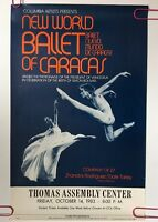 Vintage Ballet Poster World Ballet Of Caracas Thomas Assembly Center Talley