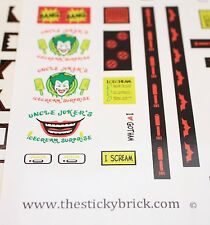 Custom 7888 LEGO stickers replacement sticker Batman Tumbler Joker
