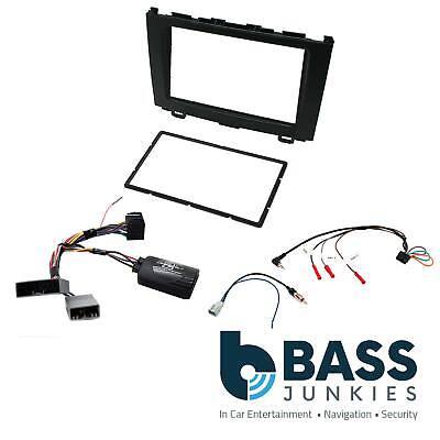 CTKHD04 Black Double Din Stereo Fascia Fitting Kit For Honda CR-V 2007-2009