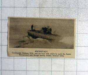 1919-Commander-Dobson-And-Boat-Which-Sank-Andrei-Pervozvanni-Kronstadt