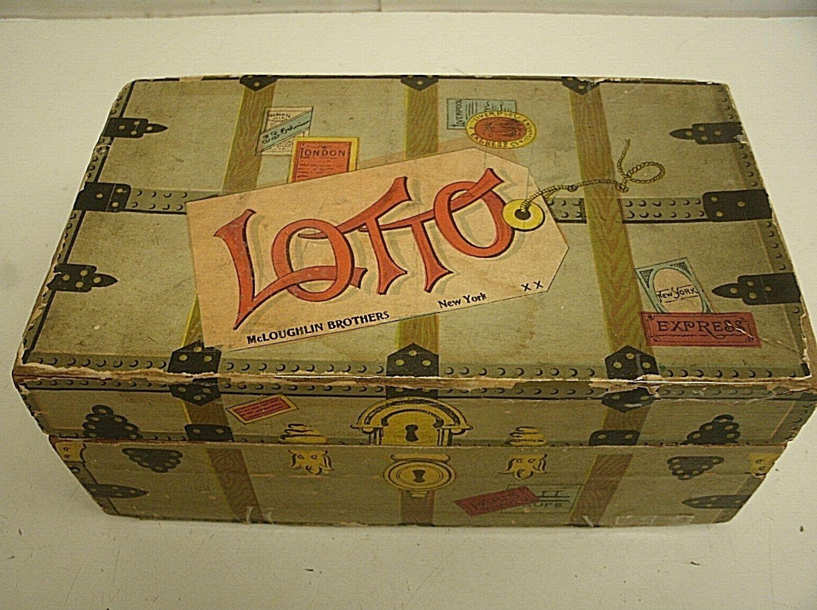 Mcloughlin bros. lotto - spiel bingo - spiel im stil von 1890