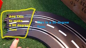 ARTIN 1/32 1/2 30 degree/ ADD to make a 90 degree turn with standard 30 track