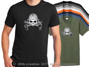 Ponteggio-Operaio-T-Shirt-Scaffolder-Skull-T-Shirt-Impalcatura-Erector-Camicia