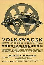VB02 VINTAGE VW Volkswagen Beetle Auto Pubblicità A4 poster stampa