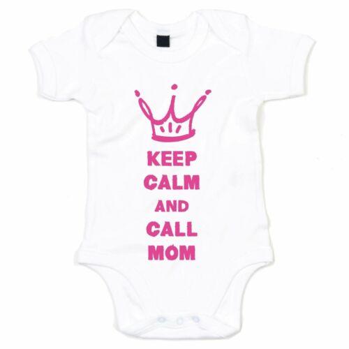 Superheldin Ruhe bewahren Mama Mutter Hero Keep calm and call Mom Baby Body