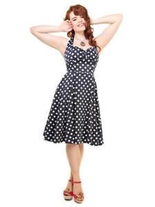 Dot 1950 poupée chérie Navy années Collectif Robe de 22 Vintage Polka Joanna Sz 10 RfRXCqw