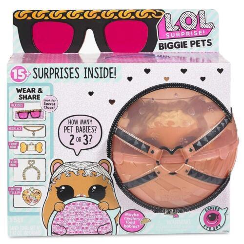 lol surprise biggie pet dog bunny hamster pets cane coniglio criceto sorpresa