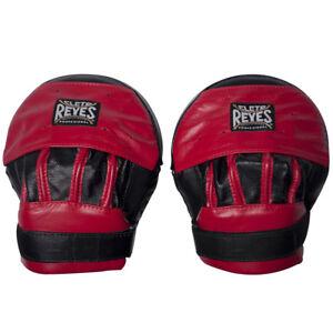 Cleto Reyes Cuir Incurvé Punch Moufles-noir/rouge-afficher Le Titre D'origine Dernier Style