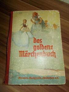 CARTONNE-DAS-GOLDENE-MARCHENBUCH-GRAVURES-1941-Grimm-Andersen-u-c