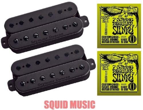 Seymour Duncan Nazgul & Sentient 7 String Humbucker Black Set ( 2 ERNIE SETS )