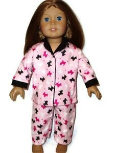 Scottie-Dogs-Pajamas-PJs-fits-American-Girl-Dolls-18-inch-Doll-Clothes