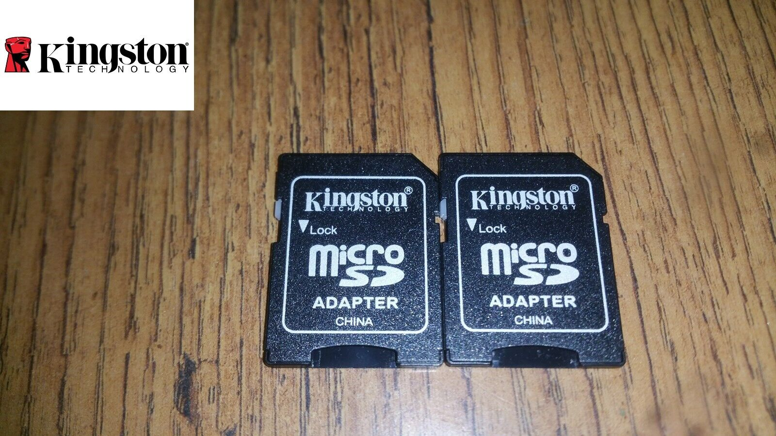 2x New Kingston MicroSD To SD Adapter Converter For 2GB And Up MicroSD Cards