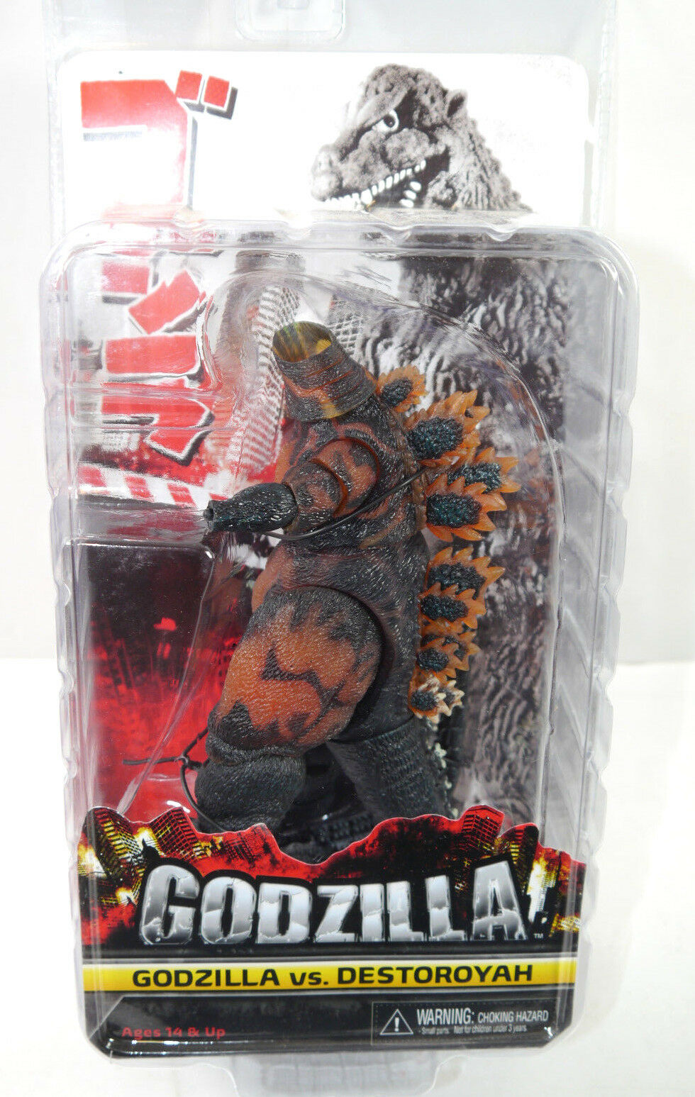 Godzilla Vs.Destgoldyah Classic Burning 1995 Figurine D'Action Neca Neuf (L)