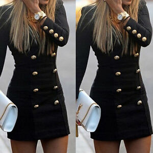Womens-Long-Sleeve-Bodycon-Evening-Party-Cocktail-Short-Mini-Dress-Fashion