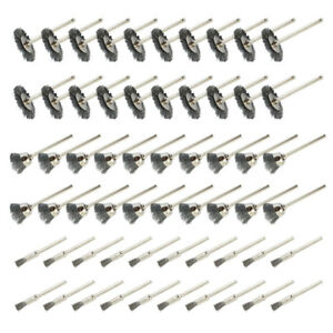 60x-Wheel-Polishing-Pad-Brush-Set-Steel-Brass-Wire-For-Dremel-Rotary-Tool-3mm
