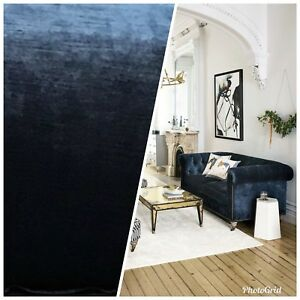 Designer-Antique-Inspired-Velvet-Fabric-Deep-Sea-Blue-Upholstery