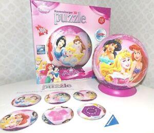 In scatola Disney PRINCESS RAVENSBURGER 3D Puzzle Palla da 108 PEZZI CONDIZIONI EX