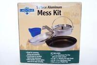 Lake & Trail 5 Piece Aluminum Mess Kit 7 Fry Pan 5 Pot 6 Plate 8 Oz Cup Camp