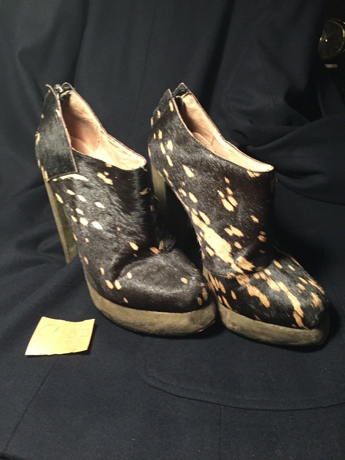 Plomo   Designer  Wouomo  avvio ankle Heels  Small