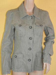 Sommer-Blazer-Jacke-Bluse-vintage-JENSEN-WOMEN-36-Leinen