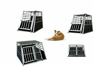 Chien Pet Chiot En Aluminium Cage Transport Caisse De Transporteur Voyage Boîte De Transporteur Kennel Uk