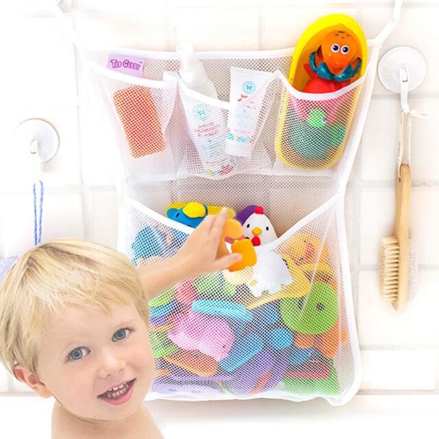 Baby Bathroom Mesh Bath Toy Storage Net Bag Stuff Bathtub Organizer with Sucker