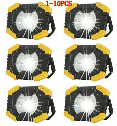 Solar LED Light USB Rechargeable Outdoor Camping Work Torch Floodlight Lamp 1-6X