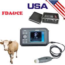 Veterinary Ultrasound Scanner Handheld Wristscan Farm Animals Aluminum Case Fda