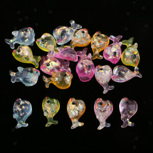 Glitter-Dolphin-Decorative-Flatback-Cabochons-Embellishment-Slime-Charm-20pc