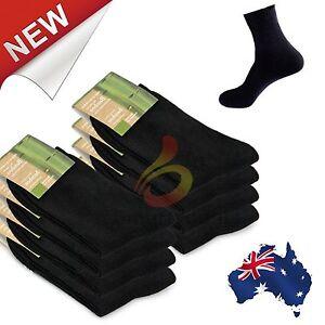 8 Pairs Black Mens Socks Bamboo Fibre Odor Resistant Sweat Natural Comfortable