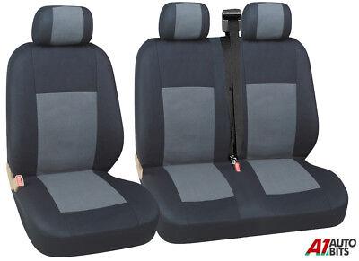 2 For Citroen Berlingo Multispace Heavy Duty Black Waterproof Car Seat Covers