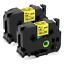 2-PK-TZ-Tze-651-Label-Tape-Cartridge-Black-on-Yellow-Brother-P-Touch-24mm-x-8m miniature 1