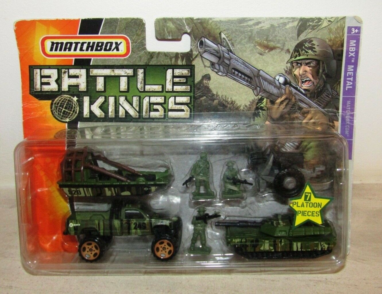 Matchbox Superfast Battle Kings Set 2006 With 7 Platoon Pieces MIB RARE