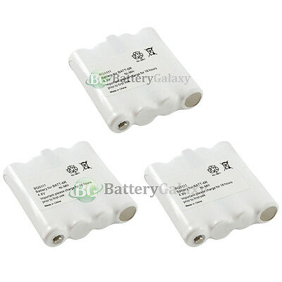 3 NEW Two-Way 2-Way Radio Rechargeable Battery Pack for Midland BATT6R BATT-6R