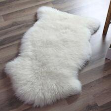 Genuine Real Australian Single One Pelt Sheepskin IVORY 2x3 Rug