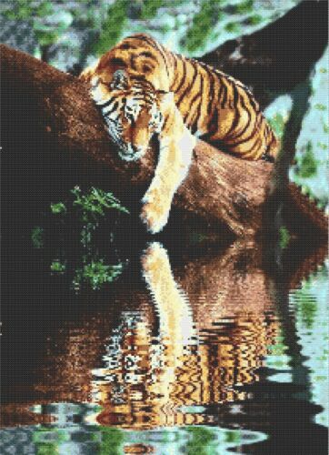 TIGER Chillin-counted cross stitch chart
